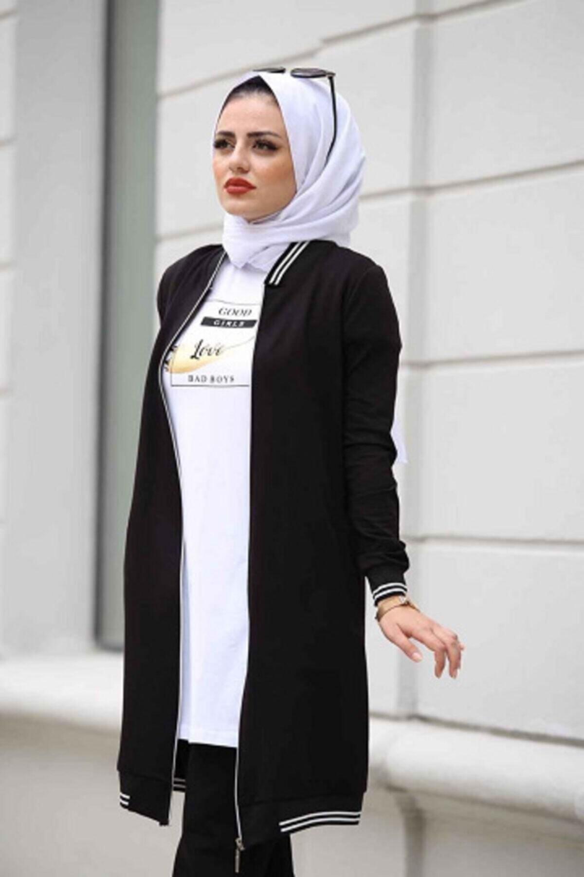 Camelya Fashion Kadın Siyah Spor Üçlü Takım 2