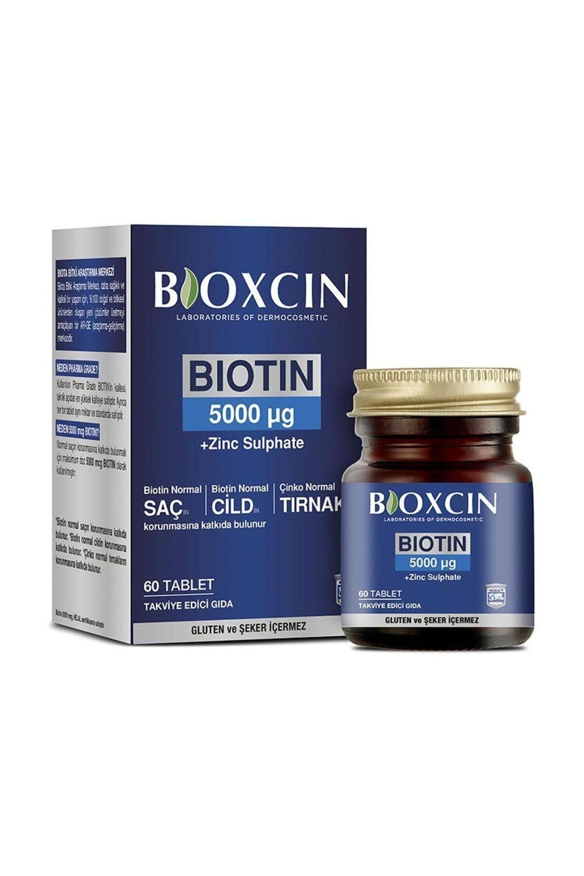 Bioxcin Biotin 5000 Mcg Takviye Edici Gıda 60 Tablet 1