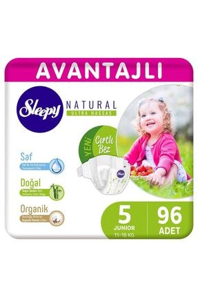Sleepy Natural Avantajlı Bebek Bezi 5 Numara Junior 96 Adet