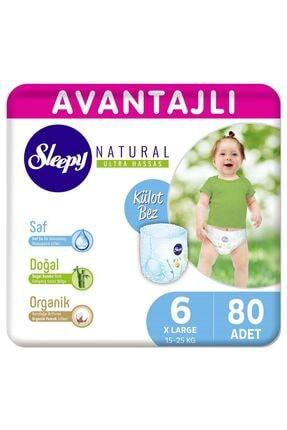 Sleepy Natural Avantajlı Külot Bez 6 Numara Xlarge 80 Adet