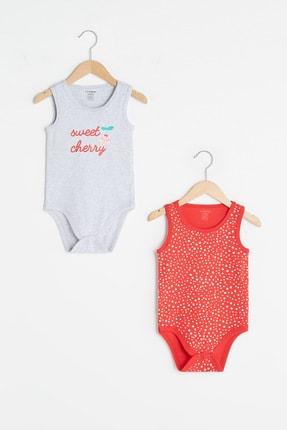 LC Waikiki Kız Bebek Kırıkbeyazmelanj Cx8 Bebek Body & Zıbın