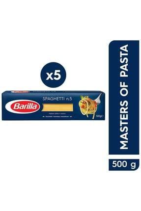 Barilla Spagetti (Spaghetti) Makarna No.5 500 gr x 5 Adet