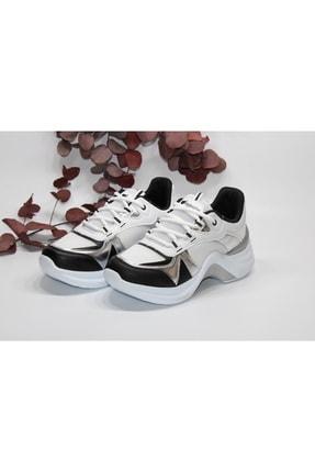 Twingo Siyah Beyaz Yüksek Tabanlı Günlük Sneaker Spor Ayakkabı