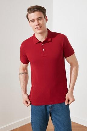 TRENDYOL MAN Kırmızı Erkek Slim Fit Yakası Jakarlı Polo Yaka T-Shirt TMNSS20PO0009