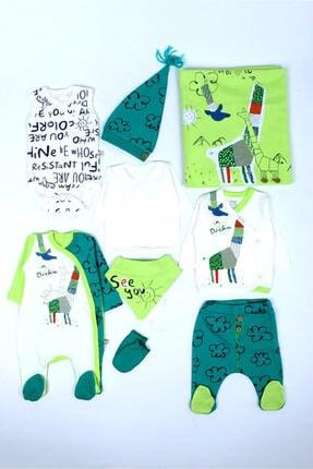 İmaj Erkek Bebek Yeşil Origami Zürafalı Hastane Çıkışı Bebek Takımı
