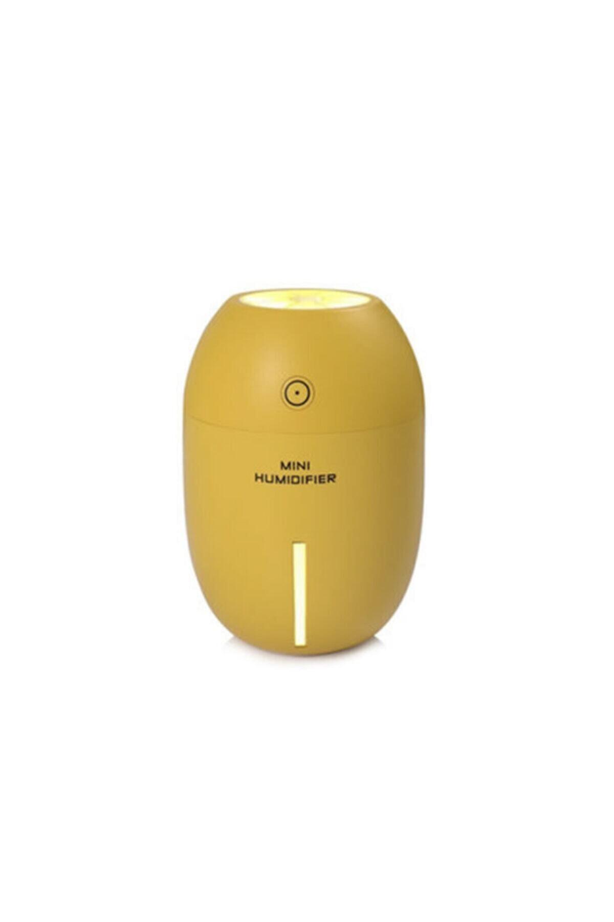 Gomax Limon Tipi Mini Hava Nemlendirici Buhar Makinesi - Sarı 1