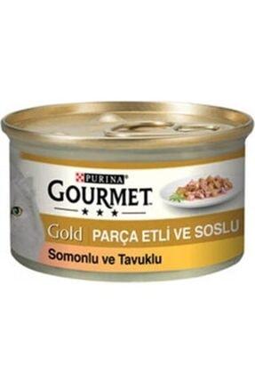 Purina Gold Somonlu Ve Tavuklu Kedi Konservesi 85 Gr 24 Adet