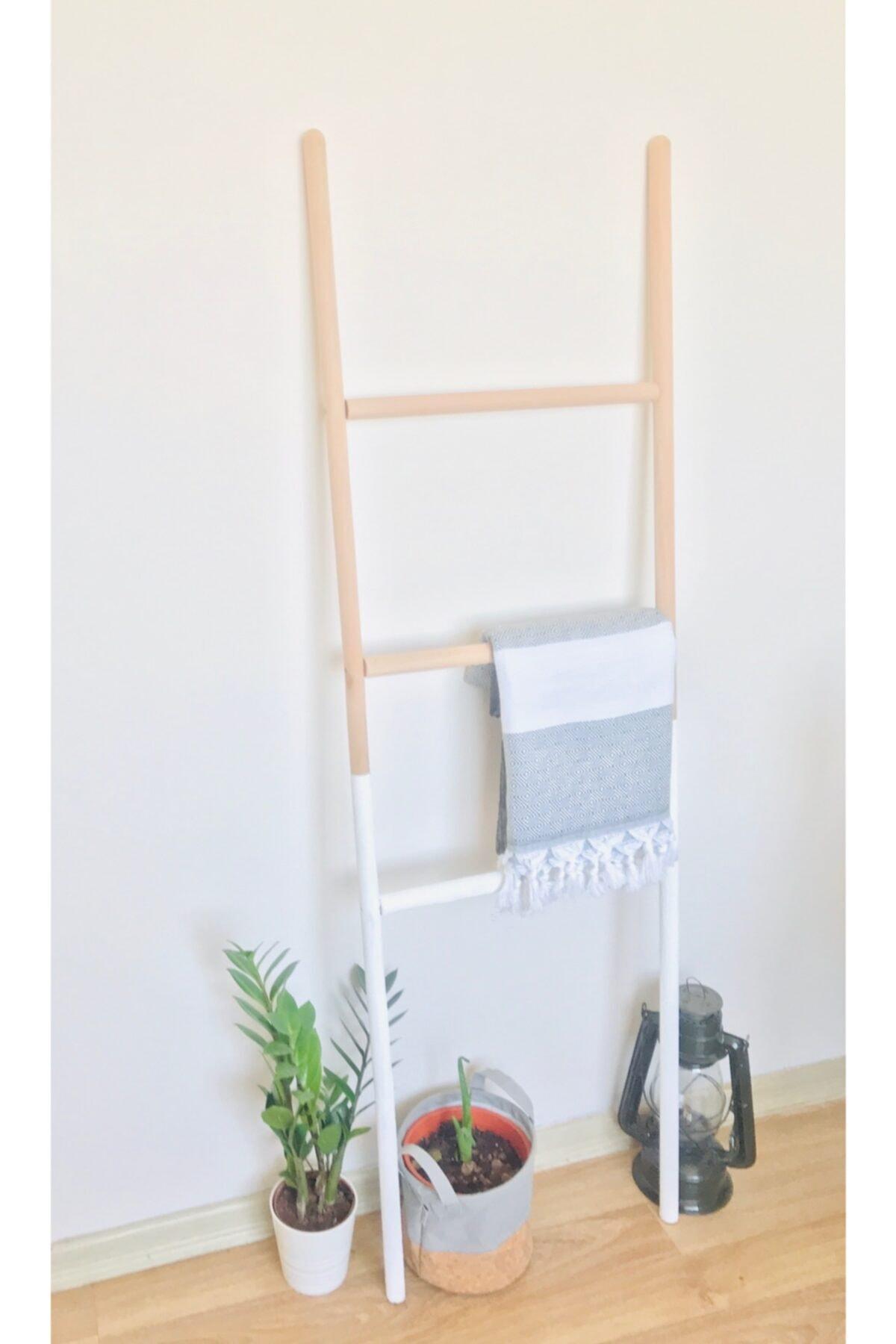 EVİMSAN Dekor Merdiven - Beyaz Ahşap Renkli Dekorasyon Merdiven 2
