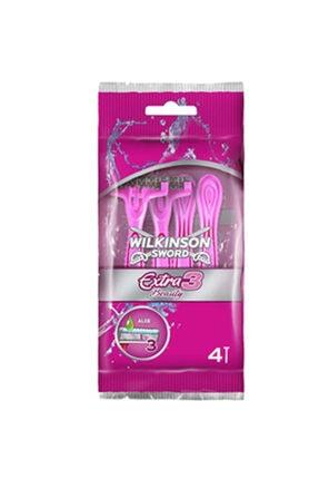 Wilkinson Extra 3 Beauty - Oynar Başlıklı Kullan At Tıraş Bıçağı 4'Lü Paket