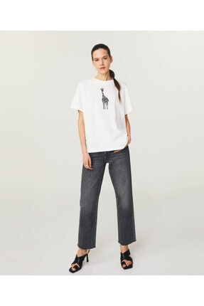 Twist Zürafa Baskılı Basic T-shirt