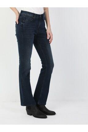 Colin's Kadın Lacivert Monica Normal Kesim Normal Bel Süper Geniş Paça Jean Pantolon 791