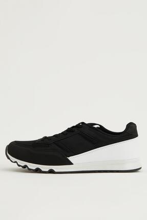 DeFacto Erkek Beyaz Bağcıklı Sneaker Spor Ayakkabı
