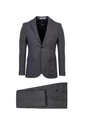 Kiğılı Slim Fit Çizgili Takım Elbise