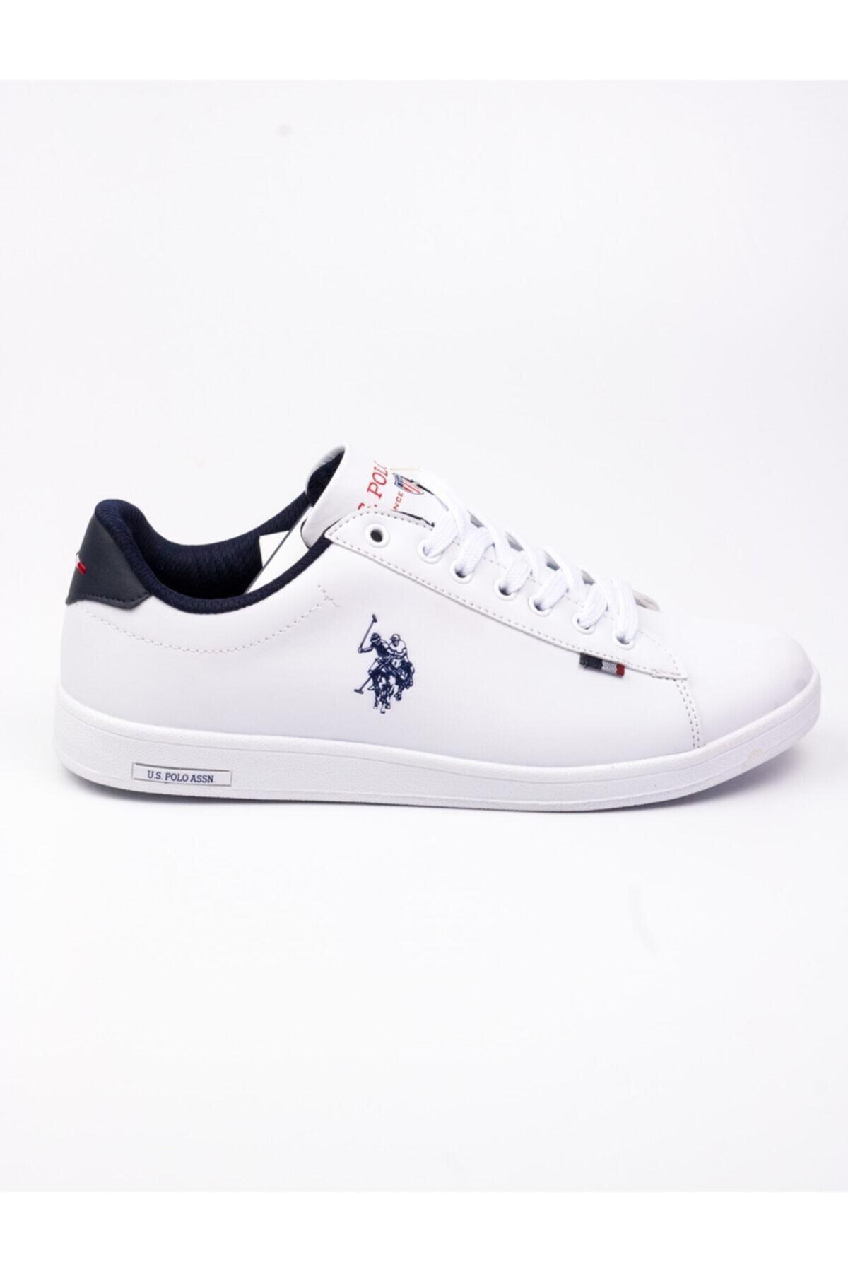 U.S. Polo Assn. Franco Sneakers Erkek Beyaz Ayakkabı 2