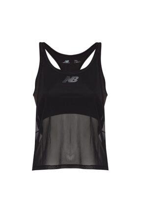 New Balance Kadın Siyah Spor Atlet T-shirt Wpt1129-bk