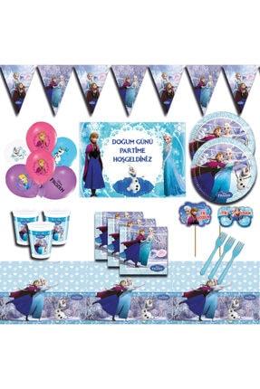 Frozen Elsa Karlar Ülkesi Afişli  Doğum Günü Parti Malzemeleri Seti 16 Kişilik