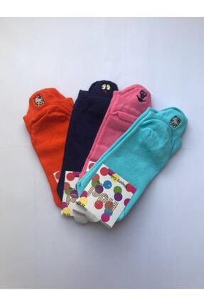 ADEL ÇORAP Kadın Adel Emojili 4'lü Kadın Patik Çorap