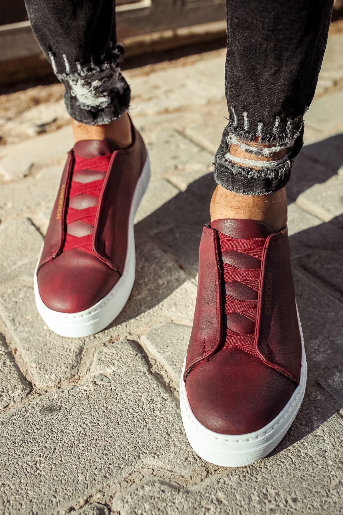 Chekich Ch013 Bt Erkek Ayakkabı Bordo 2
