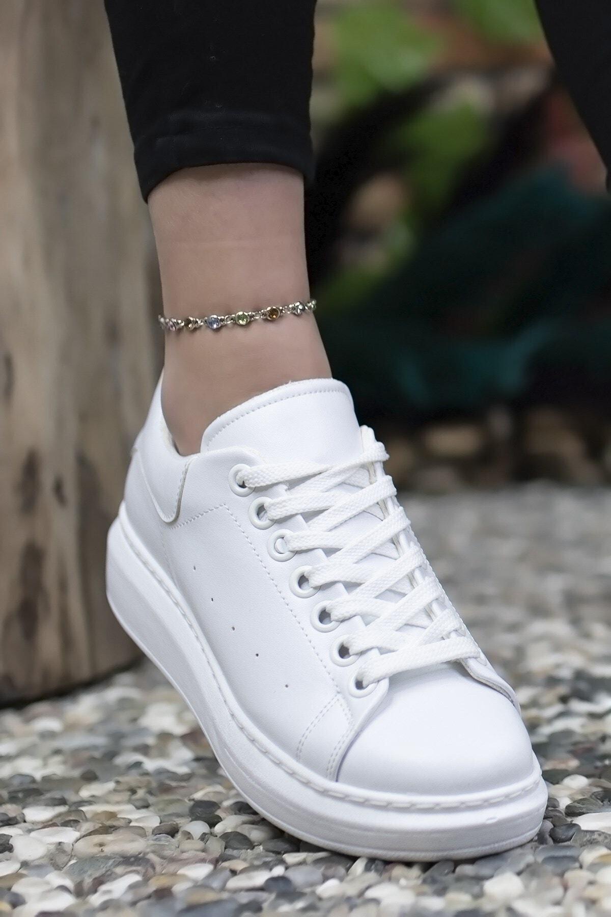 Riccon Kadın Beyaz Sneaker 0012201 2