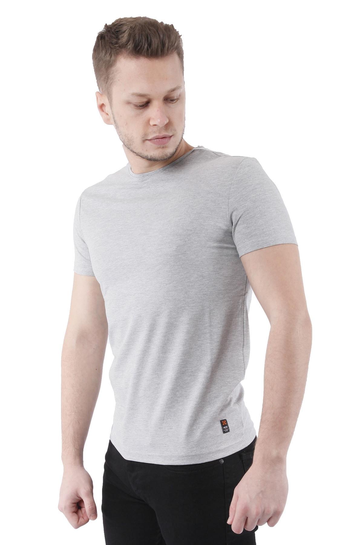 Canelia Gri Erkek Slimfit T-shirt 2