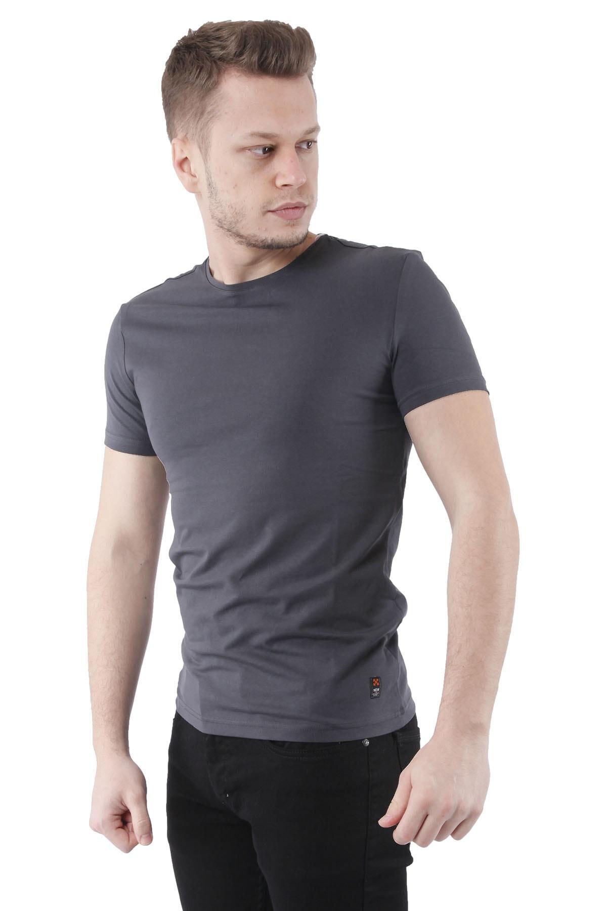 Canelia Antrasit Erkek Slimfit T-shirt 2