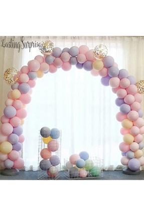 Aşkın Parti Evi Makaron Balonlu Zincir Ve Balon Seti 5 Mt Zincir Ve Balon Pompası 100 Balon Karışık