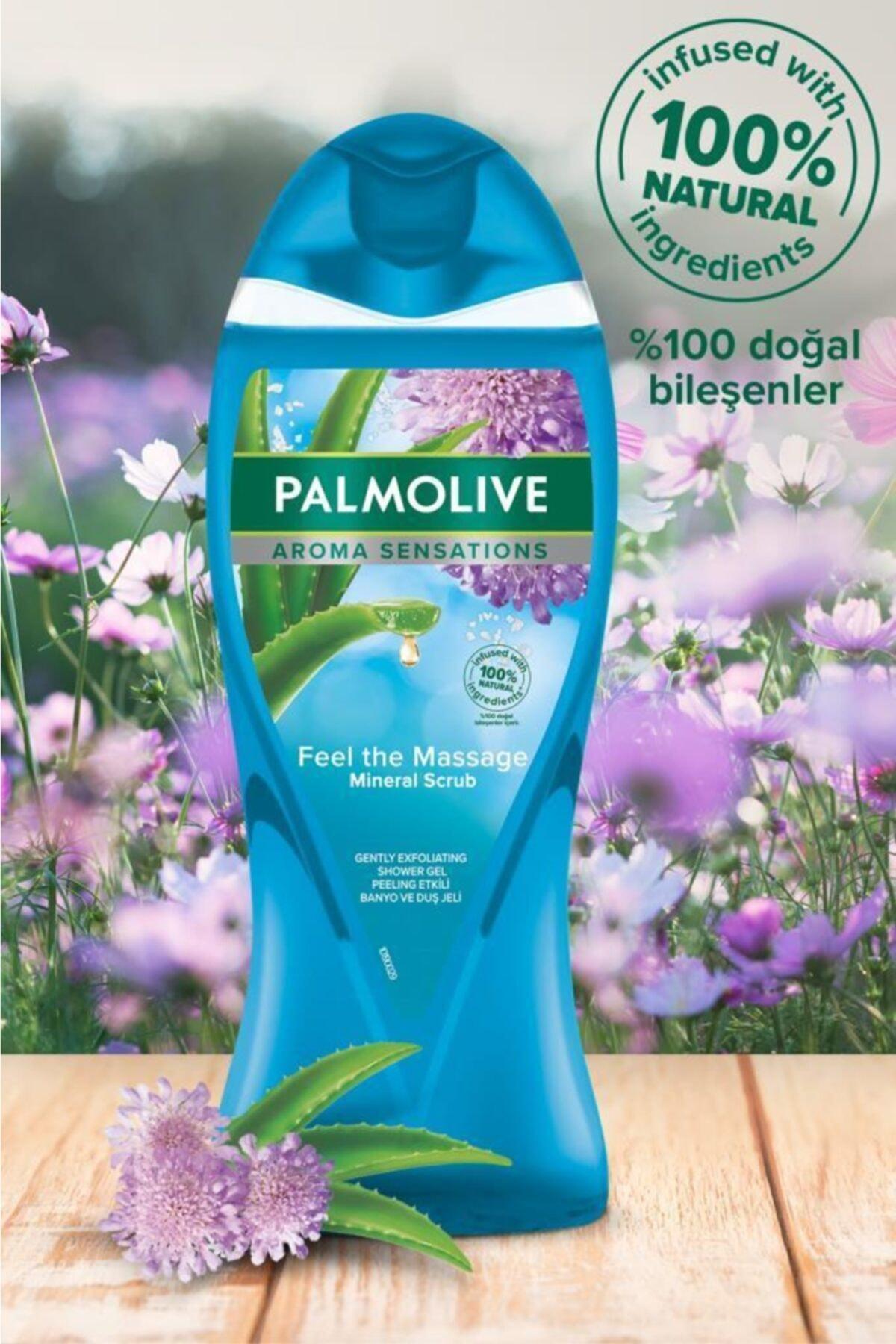 Palmolive Aroma Sensations Feel The Massage Cilt Yenileyici Duş Jeli 2 X 500 ml + Duş Lifi Hediye 2