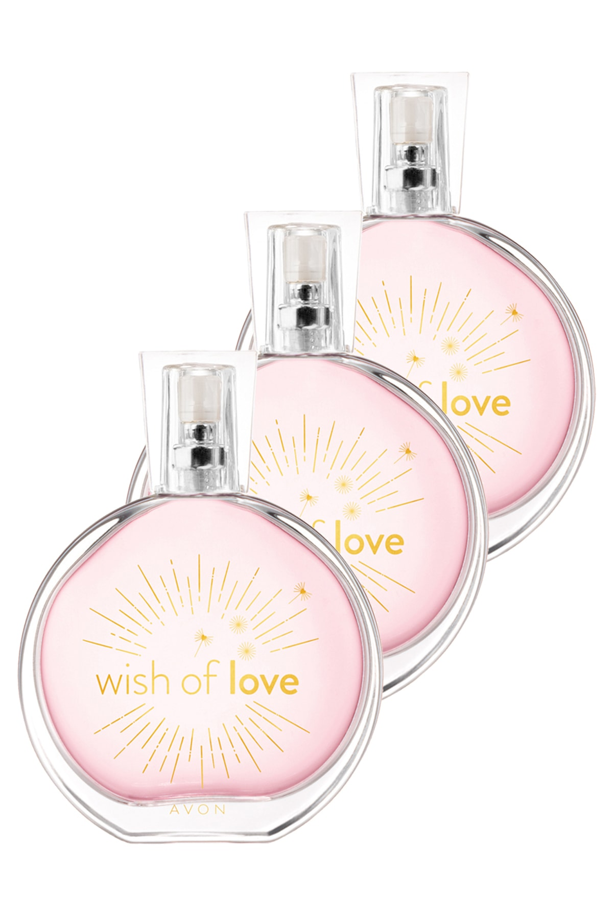 AVON Wish Of Love Kadın Parfüm Edt 50 ml 3'lü Set 5050000103381