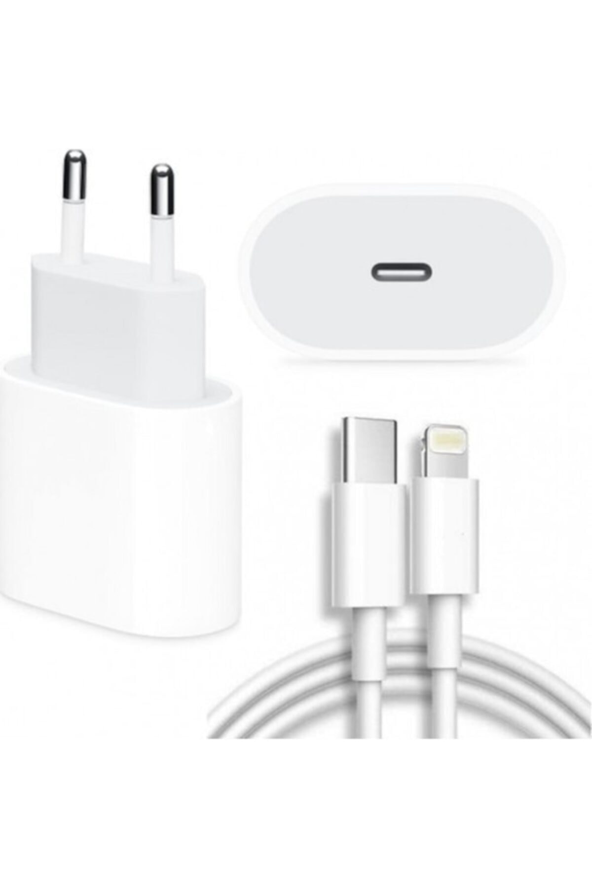 Revix Apple Macbook Ipad Iphone 11 / 12 - Pro Max Mini Uyumlu 20w Adaptör Kablo Usb-c Pd Hızlı Şarj Aleti 1