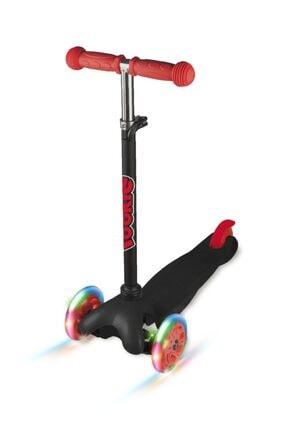 Rookie Siyah 3 Tekerlekli Işıklı Scooter