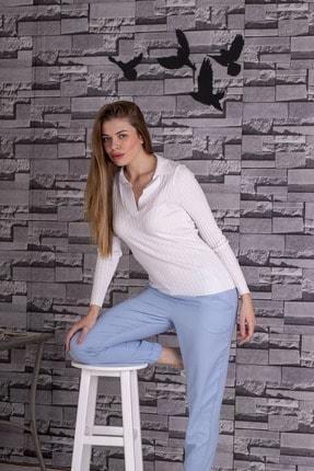 STAMINA Kadın Polo Yaka Kazak-4yv05