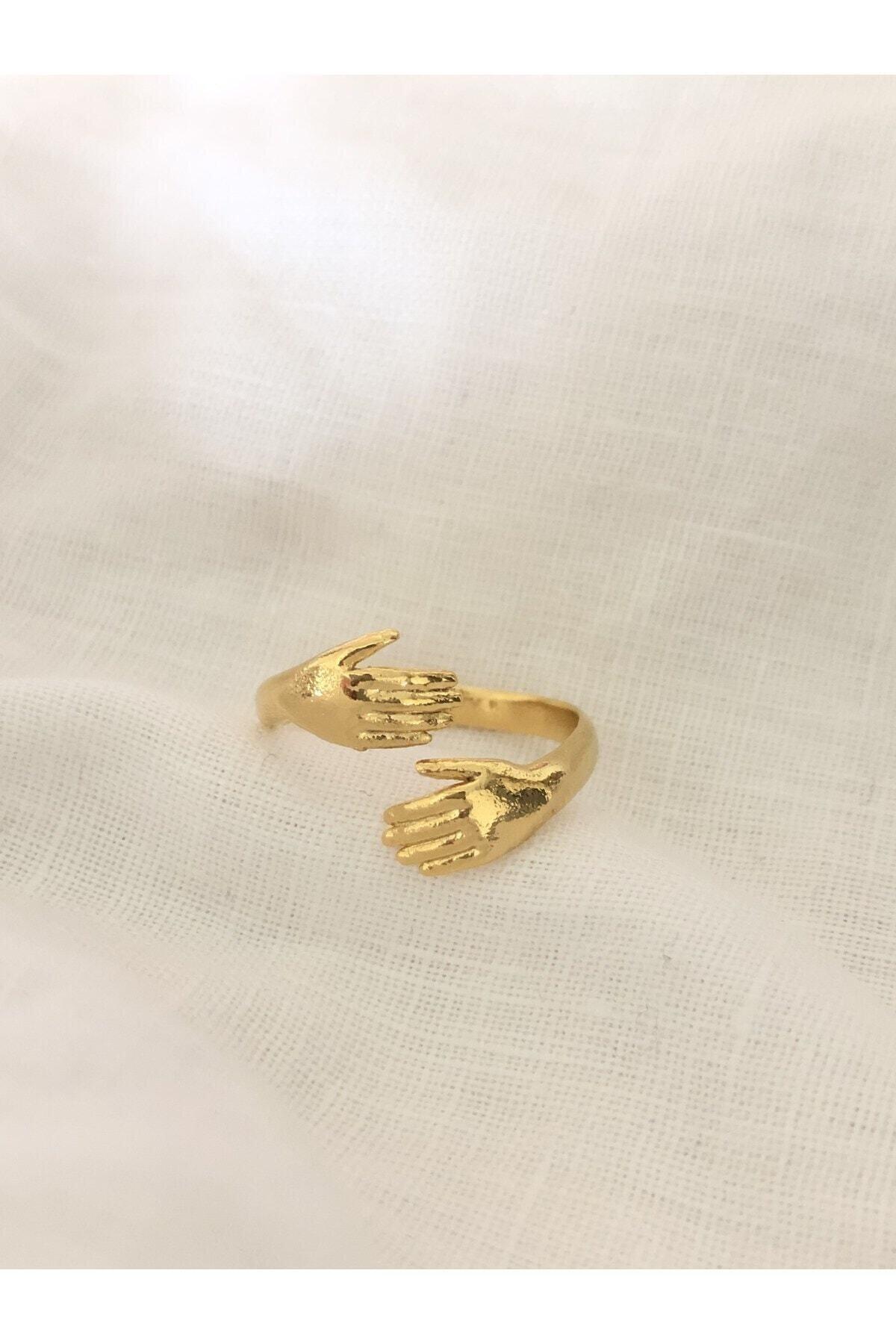The Y Jewelry Kadın Altın Kaplama El Yüzük  Ayarlanabilir 1