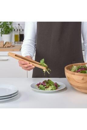 IKEA Ostbıt Ahşap Bambu Servis Maşası  24 cm