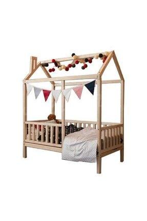KÖŞK MOBİLYA Çatılı 120x200 Ölçüsünde Montessori Bebek & Çocuk Karyolası