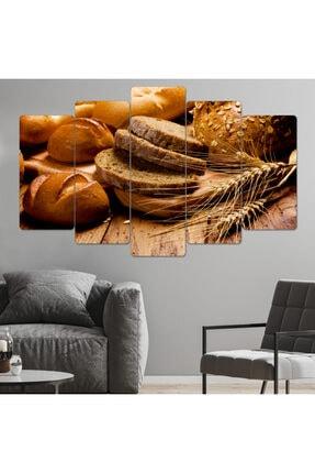 hanhomeart Ekmek Tahıl Mutfak Tablo Parçalı Ahşap Duvar Tablo Seti-5pr-0897