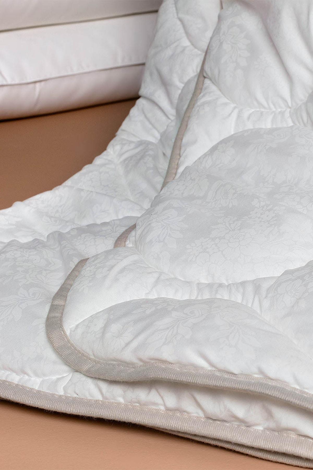 Madame Coco Vintage Jakarlı Biyeli Tek Kişilik Yorgan - Beyaz 2