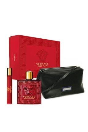Versace Eros Flame Edp Erkek Parfüm Seti 8011003850686