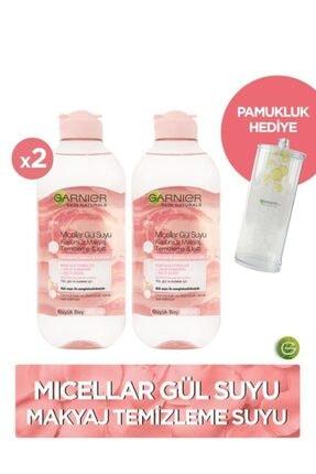 Garnier 2'li Micellar Gül Suyu Kusursuz Makyaj Temizleme & Işıltı 400 ml + Pamukluk Hediye