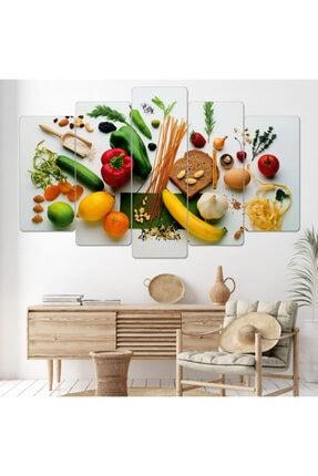 hanhomeart Mutfak Tablo-parçalı Ahşap Duvar Tablo Seti-5pr-0873