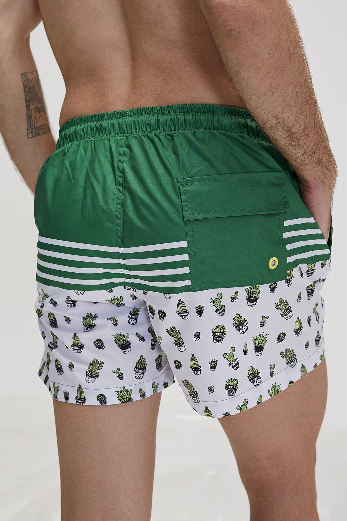 Bad Bear Yeşil Erkek Deniz Şortu 2