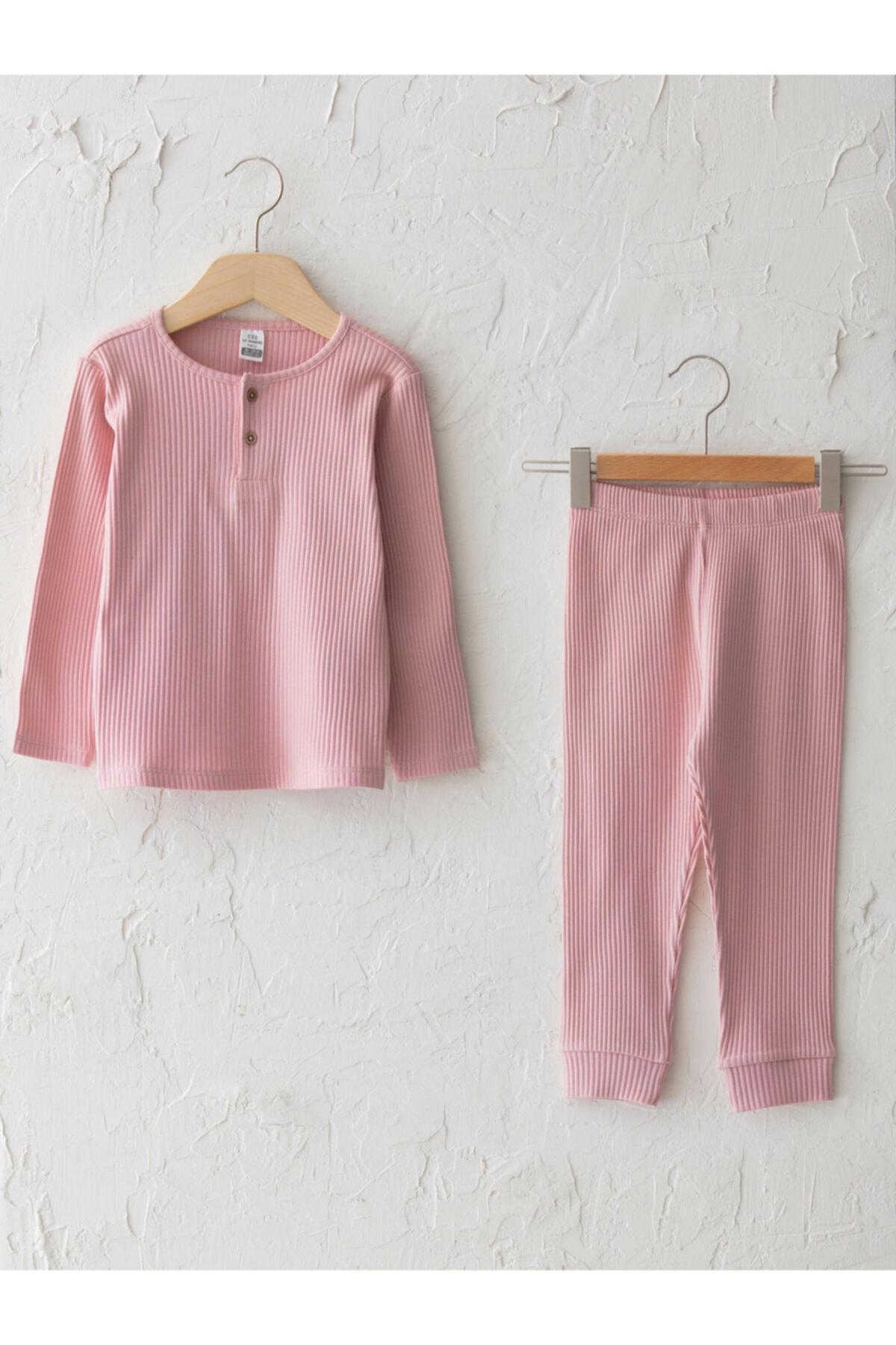 LC Waikiki Kız Bebek Pembe Pijama Takım 1