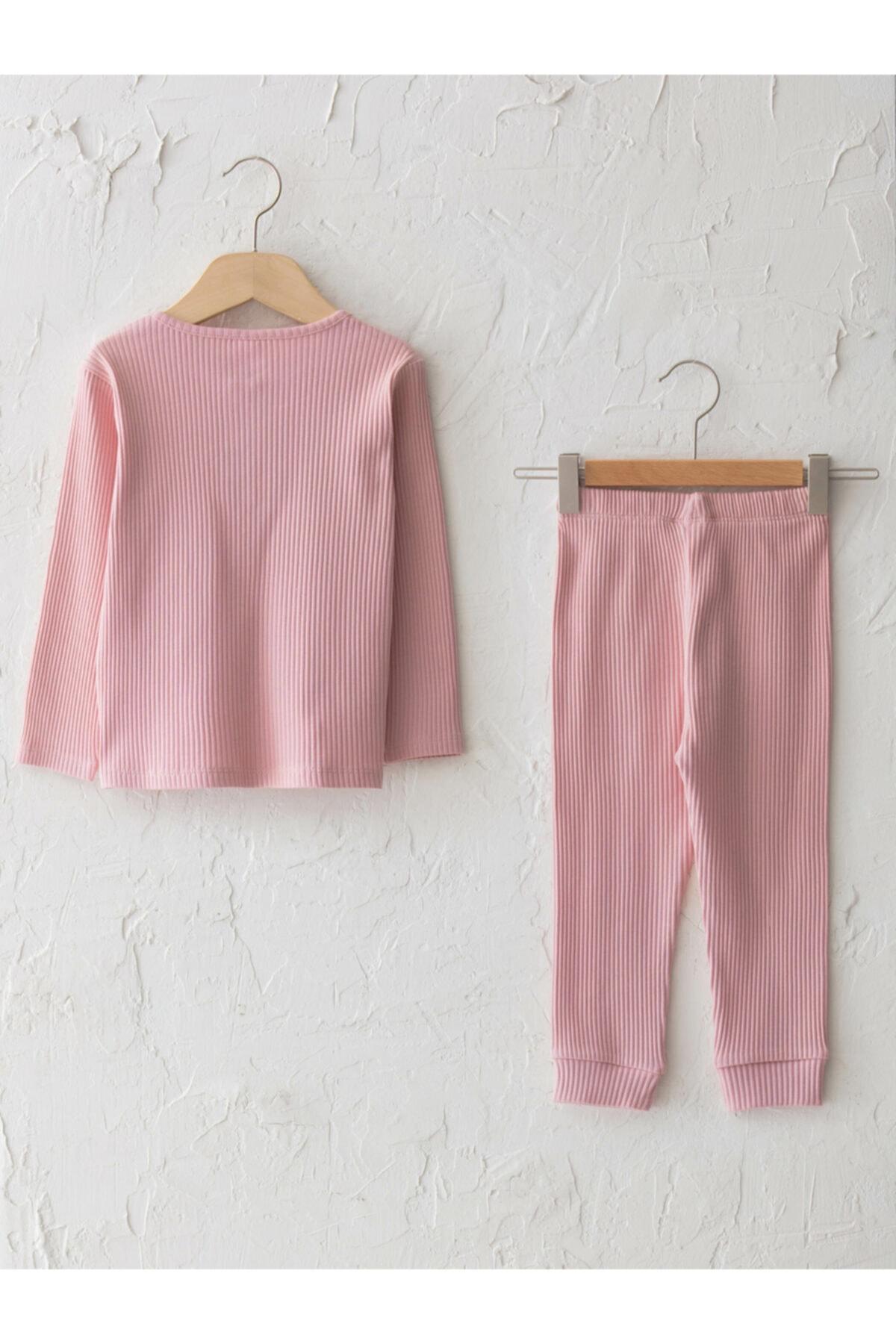 LC Waikiki Kız Bebek Pembe Pijama Takım 2