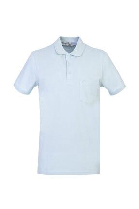 Kiğılı Erkek Açık Mavi Polo Yaka Regular Fit T-shirt