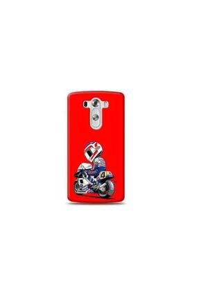 Ren Geyik Lg G3 Mini Motorcu Kırmızı Koleksiyon Telefon Kılıf Y-krmklf107
