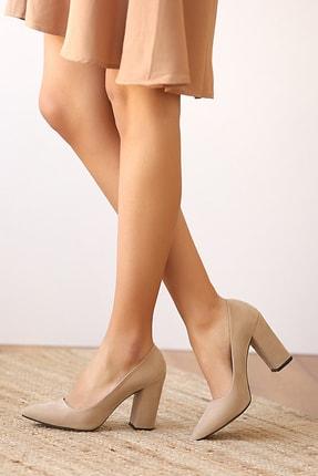 Pembe Potin Kadın Tensüet Topuklu Ayakkabı