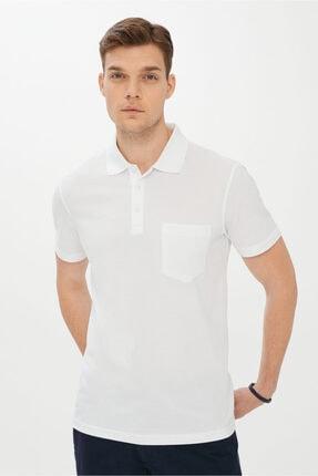 Kiğılı Erkek Beyaz Polo Yaka Regular Fit T-shirt
