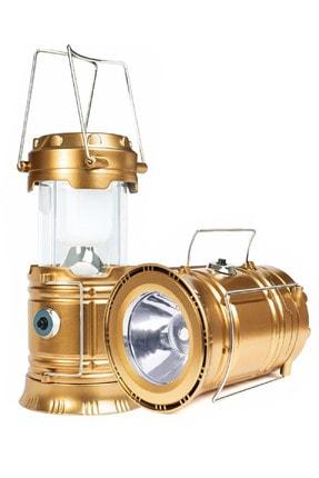 Mkey Büyük Boy Xxl 5900t Şarj Edilebilir Güneş Enerjili Usb Girişli Kamp Feneri Lamba Işıldak Powerbankli