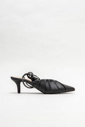 Elle Shoes Siyah Kadın Topuklu Ayakkabı
