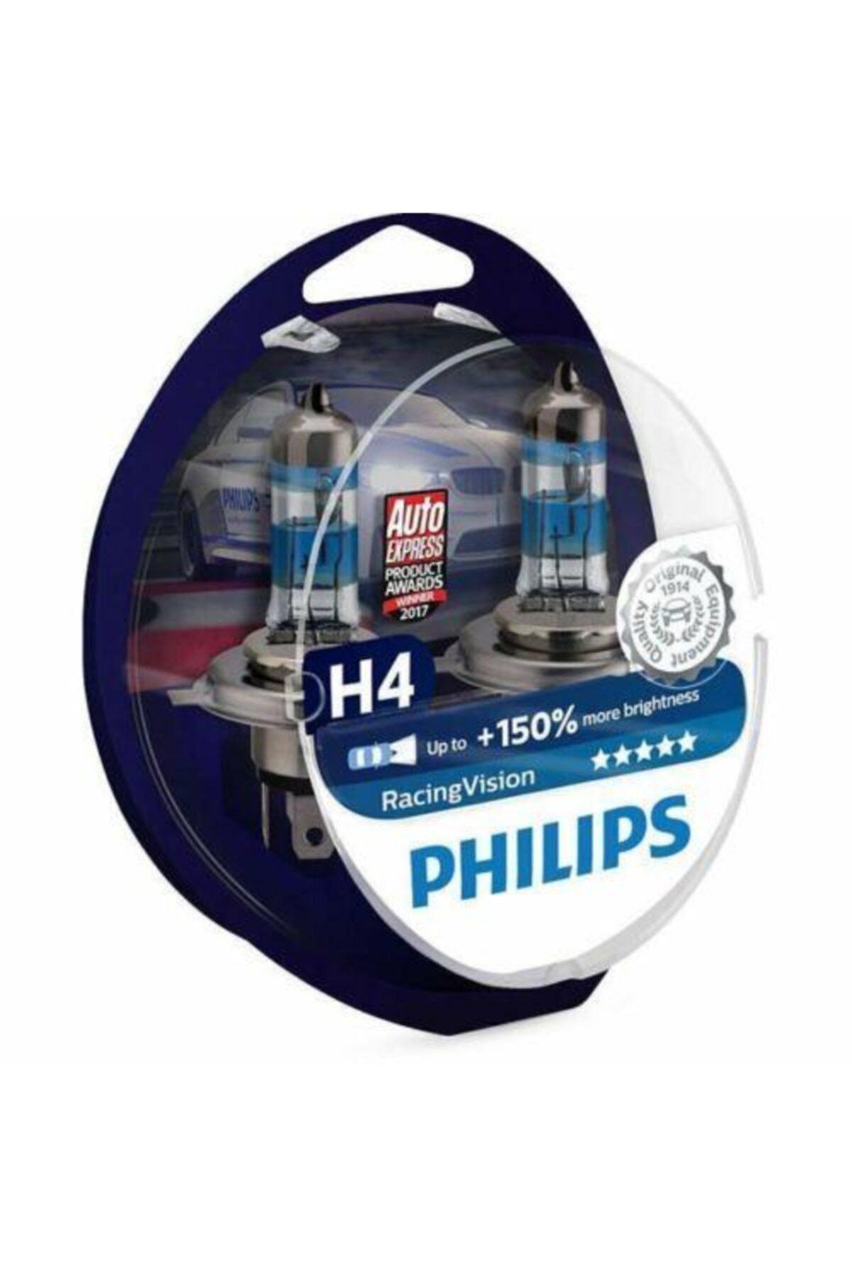 Philips Racing Vision H4 Ampul X-treme +%150 Fazla Işık 1