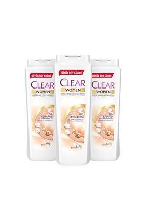 Clear Kil Terapisi Şampuan 600 ml X3